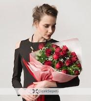 Biricik Aşkıma 15 Kırmızı Gül Buketi