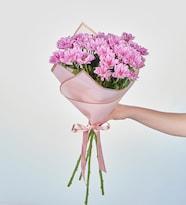 Pembe Papatyalar Çiçek Buketi