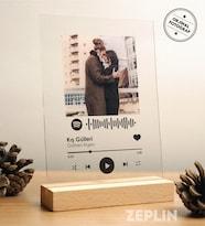 Kişiye Özel Spotify Barkodlu Dekoratif Plak