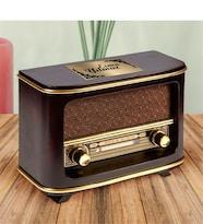 Kişiye Özel İsimli Nostaljik Lüks Ahşap Radyo