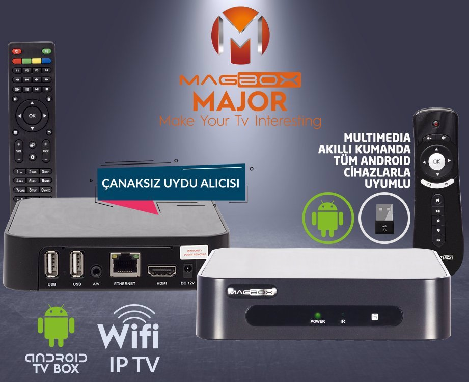Magbox Major Android 4.2 Tunersiz HD Media Player