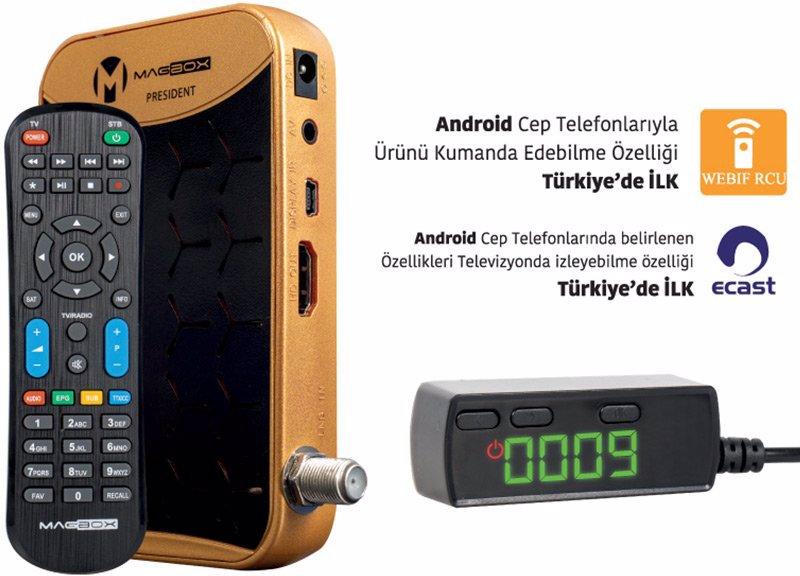 Magbox President TKGS'li Usb Mini Full HD Uydu Alıcısı