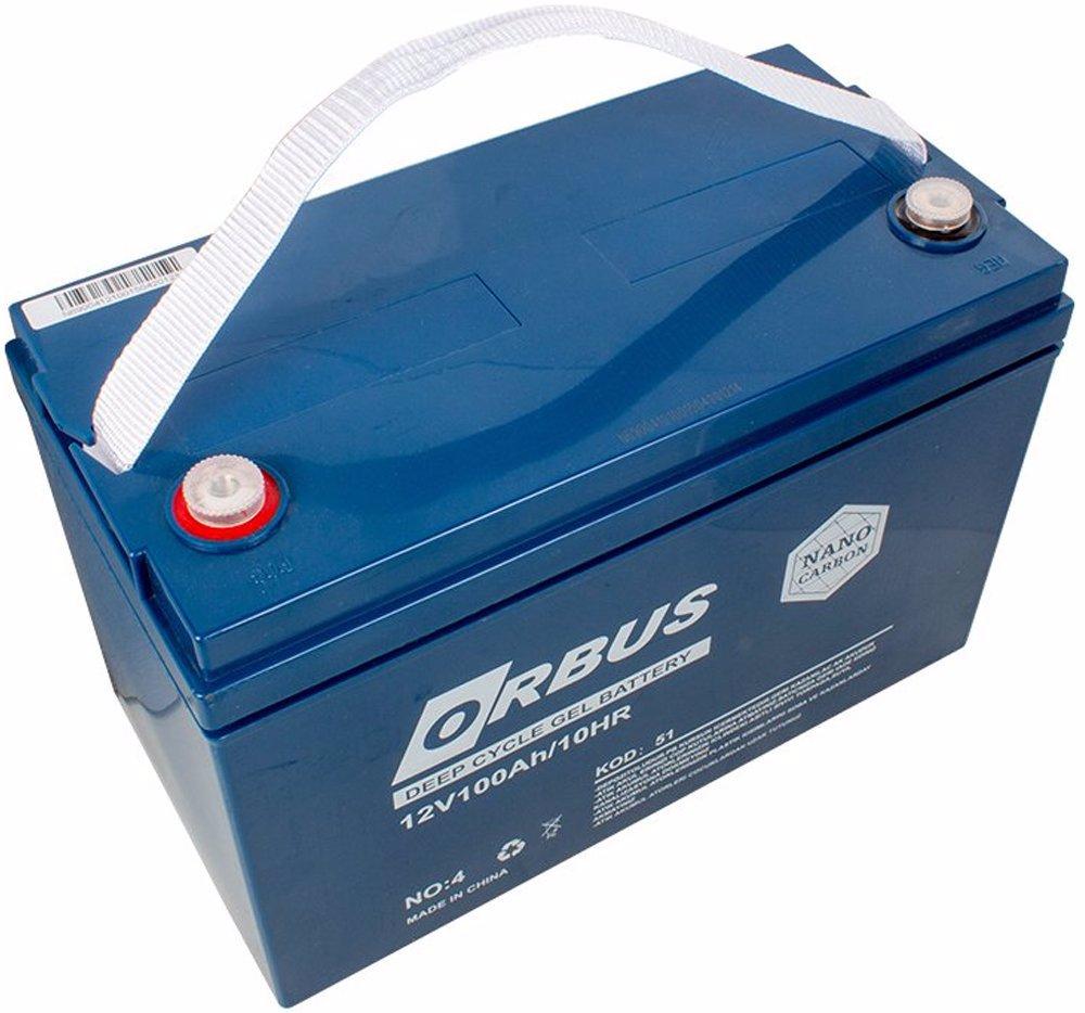 Orbus 12 Volt 100 Amper Karbon Jel Tip Akü (330x173x212 Mm)
