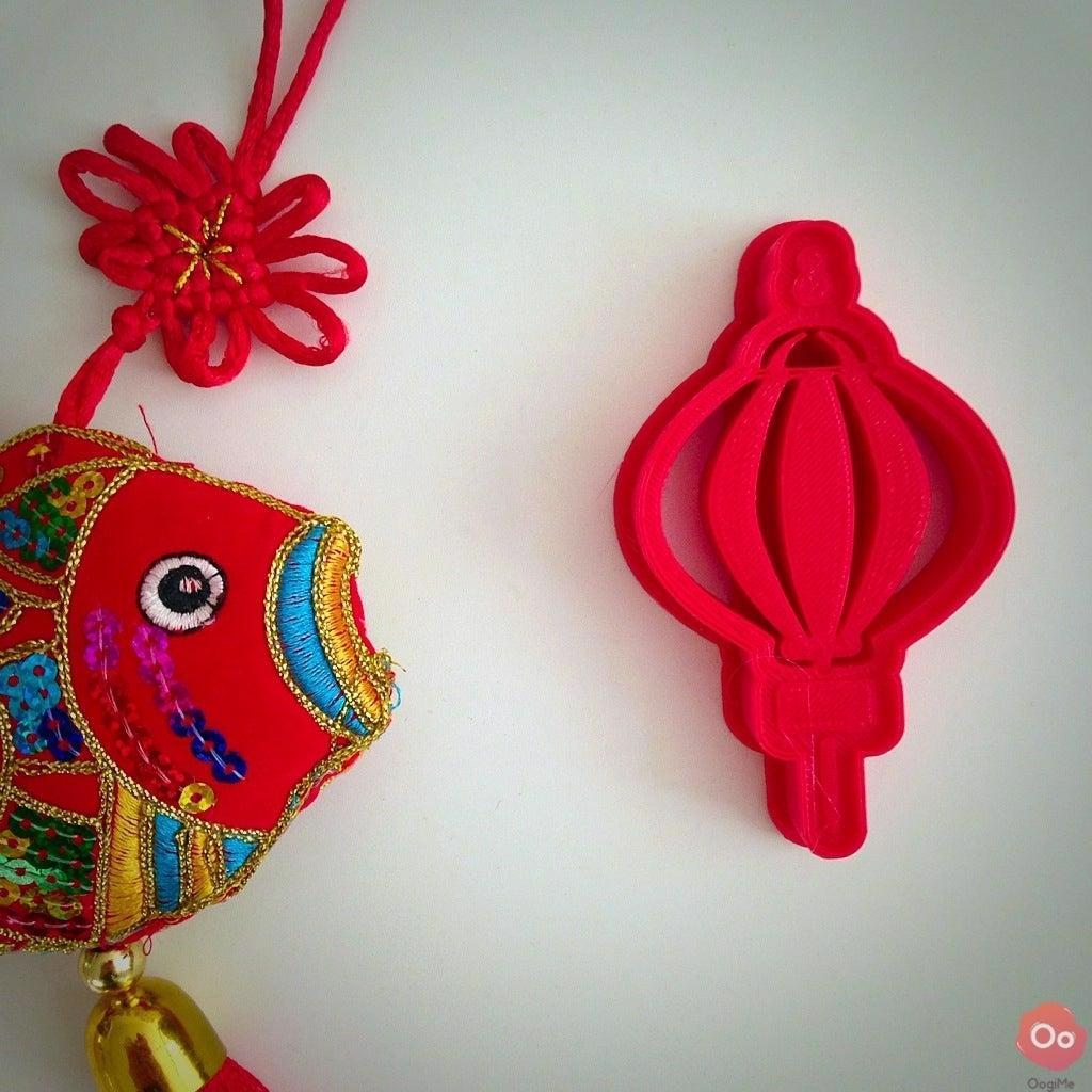 Çin Yeni Yıl Lambası Organik Plastikten Dekoratif Kurabiye Kalıbı