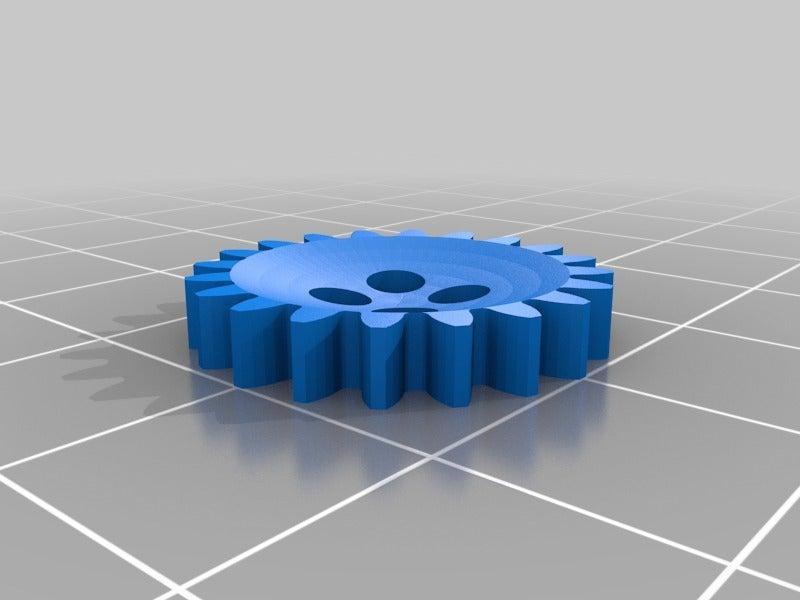 Dişli Çark Dekorlu Düğme Organik Plastikten Dekoratif Eşya Aparat