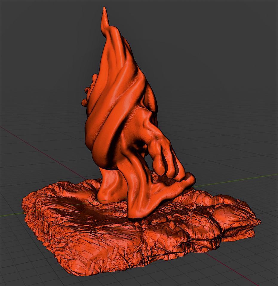 Ateş Ruhu Organik Plastikten Dekoratif Süs Biblo Aksesuar