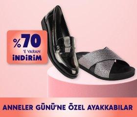 Anneler Gününe Özel Ayakkabılarda %70e varan indirim